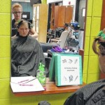 SCC cosmetology students donate haircuts