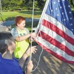 Westfield hoists the flag
