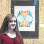 College students show off art work