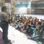 Park ranger addresses students
