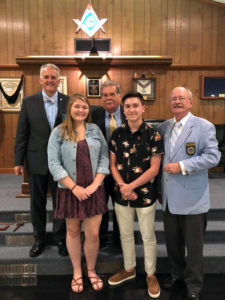 Masonic lodge awards scholarship