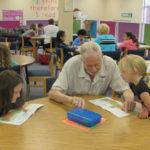 Rotary grants, reads at Tharrington