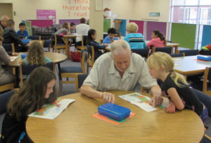 Rotary grants, reads at Tharrington