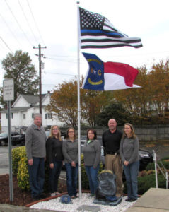 Pilot Police Dept. has new flag, memorial