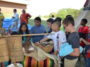 Student learn of Native Americans